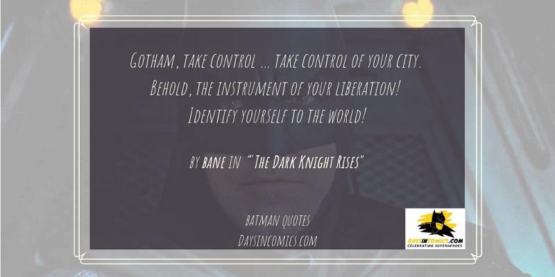 10. Gotham, take control … take control of your city.